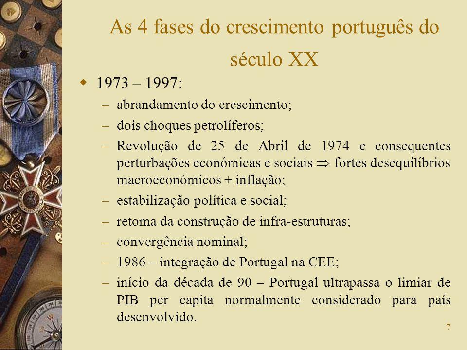 18 O grau de abertura da economia portuguesa aumentou de 5,5% para cerca de 9% do PIB.
