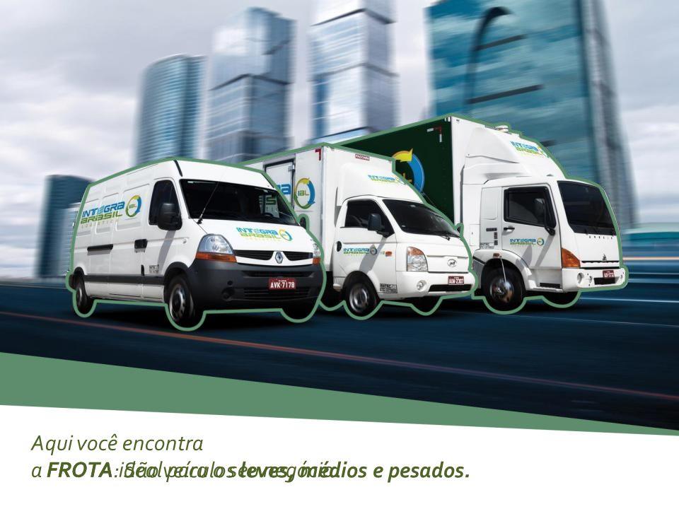 Aqui você encontra a FROTA ideal para o seu negócio. FROTA : São veículos leves, médios e pesados.