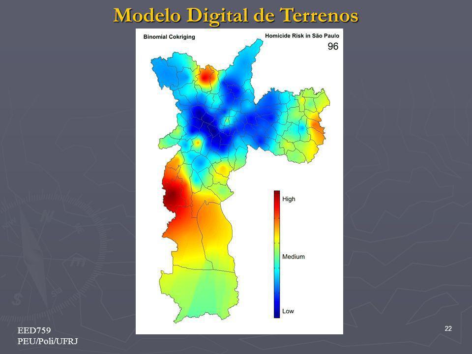 Modelo Digital de Terrenos 22 EED759 PEU/Poli/UFRJ