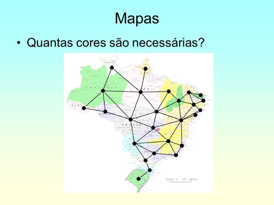 Mapas Quantas cores são necessárias?