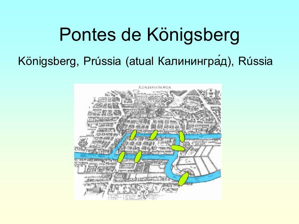 Pontes de Königsberg Königsberg, Prússia (atual Калинингра́д), Rússia