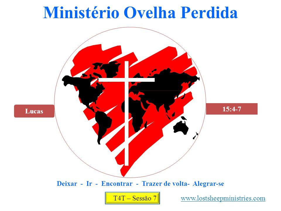 Lucas 15:4-7 Ministério Ovelha Perdida Deixar - Ir - Encontrar - Trazer de volta- Alegrar-se T4T – Sessão 7 www.lostsheepministries.com