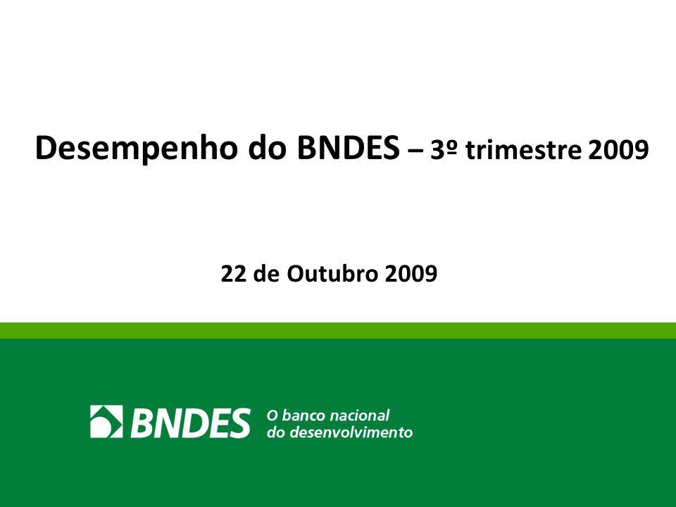 22 de Outubro 2009 Desempenho do BNDES – 3º trimestre 2009