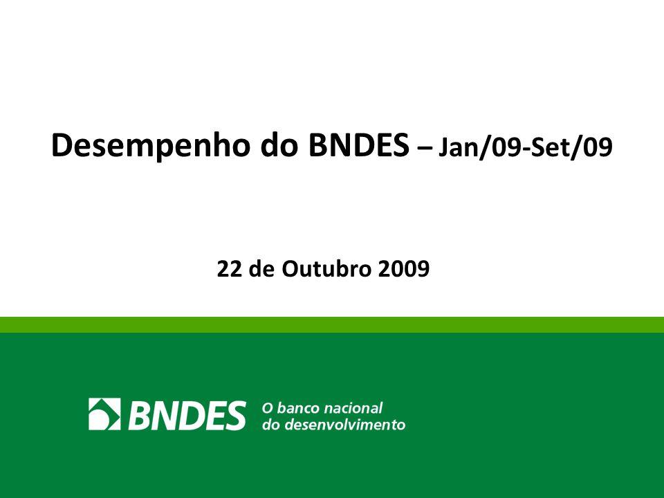 22 de Outubro 2009 Desempenho do BNDES – Jan/09-Set/09