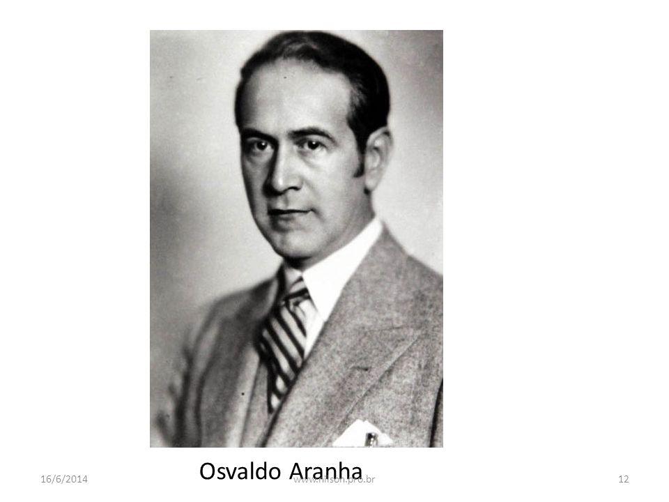 Osvaldo Aranha 16/6/201412www.nilson.pro.br