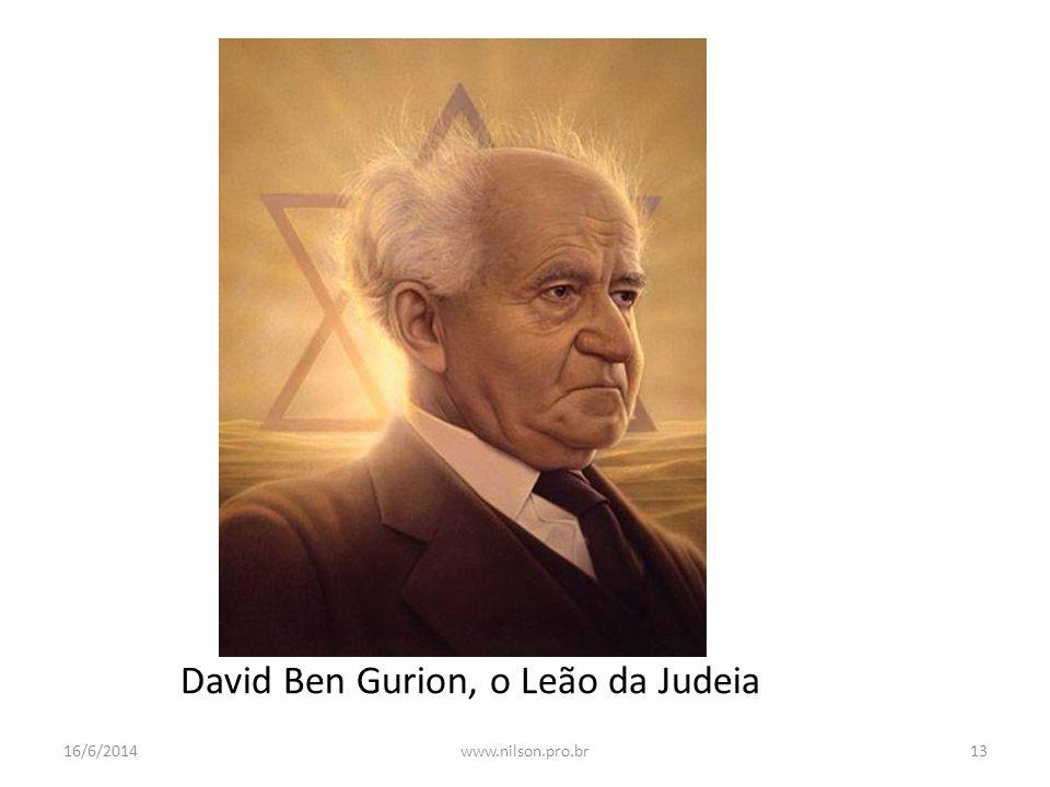 David Ben Gurion, o Leão da Judeia 16/6/201413www.nilson.pro.br