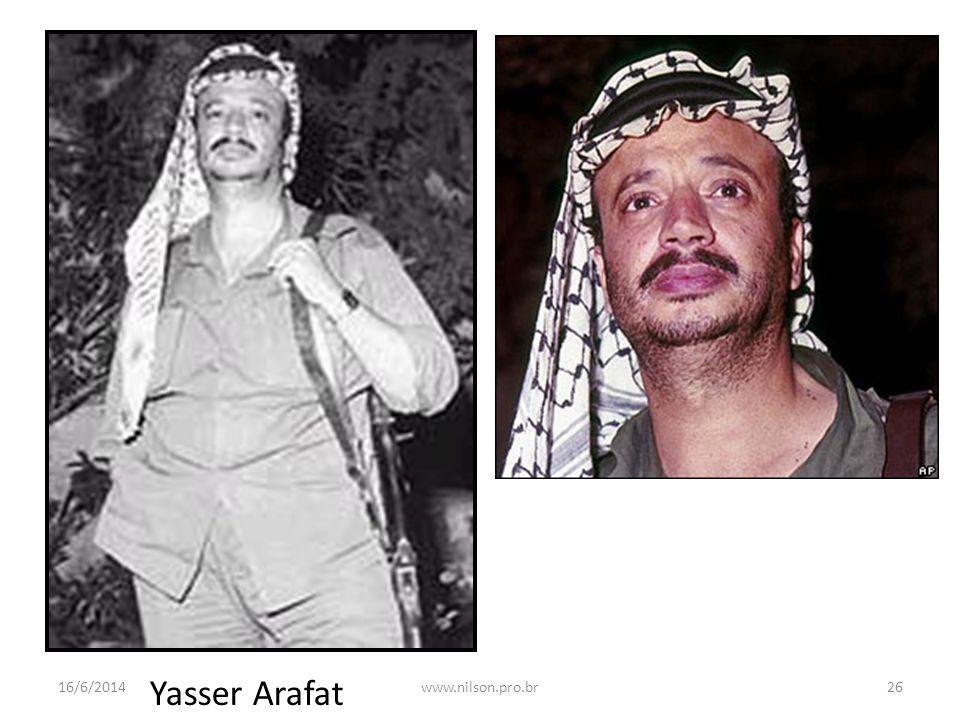 Yasser Arafat 16/6/201426www.nilson.pro.br