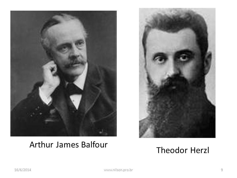 Theodor Herzl Arthur James Balfour 16/6/20149www.nilson.pro.br