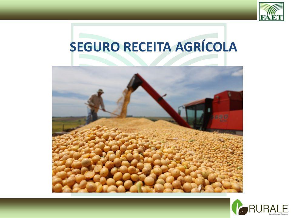 Seguro Receita Garante a receita esperada Produtor de Soja Produtor fica com o produto e tem a livre escolha de quando e a que preço vender.