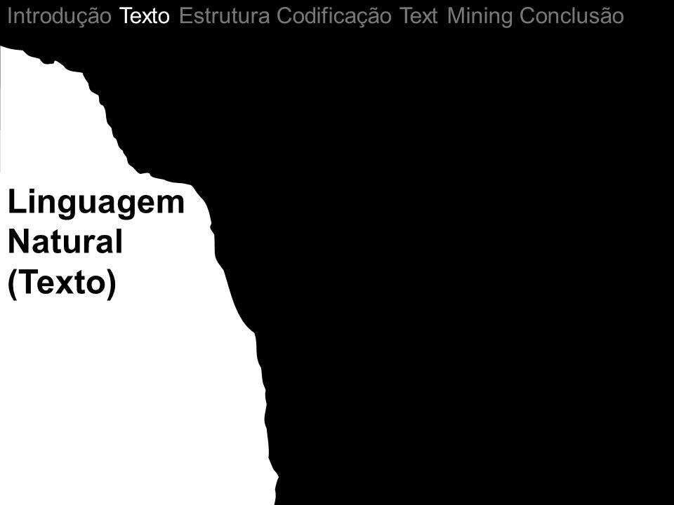 Linguagem Natural (Texto) Introdução Texto Estrutura Codificação Text Mining Conclusão