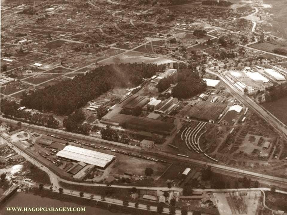 1951 - vista do pátio de vazamento