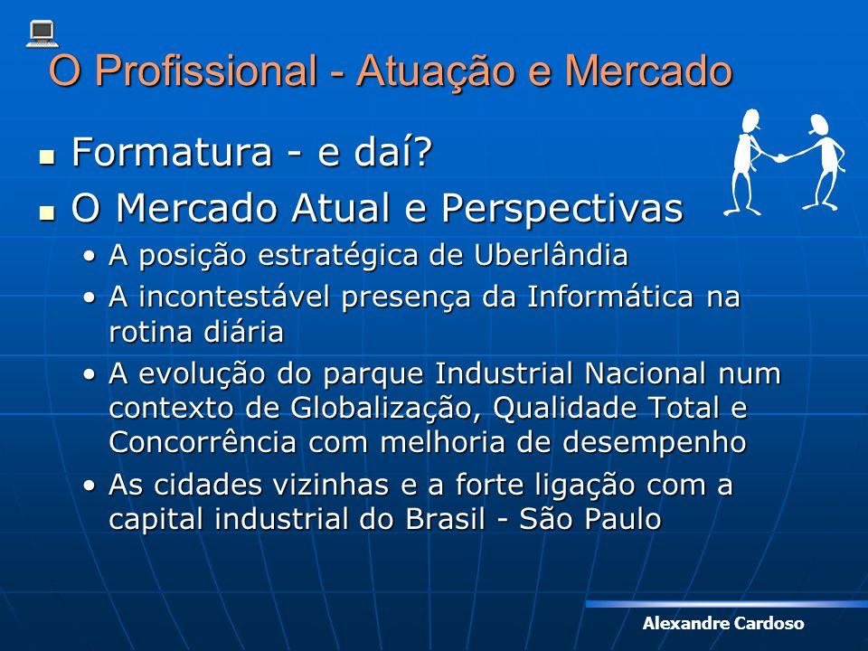 Alexandre Cardoso O Profissional - Atuação e Mercado Formatura - e daí? Formatura - e daí? O Mercado Atual e Perspectivas O Mercado Atual e Perspectiv