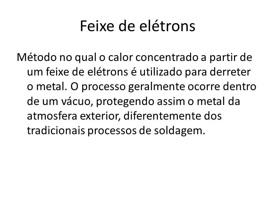 Método no qual o calor concentrado a partir de um feixe de elétrons é utilizado para derreter o metal. O processo geralmente ocorre dentro de um vácuo
