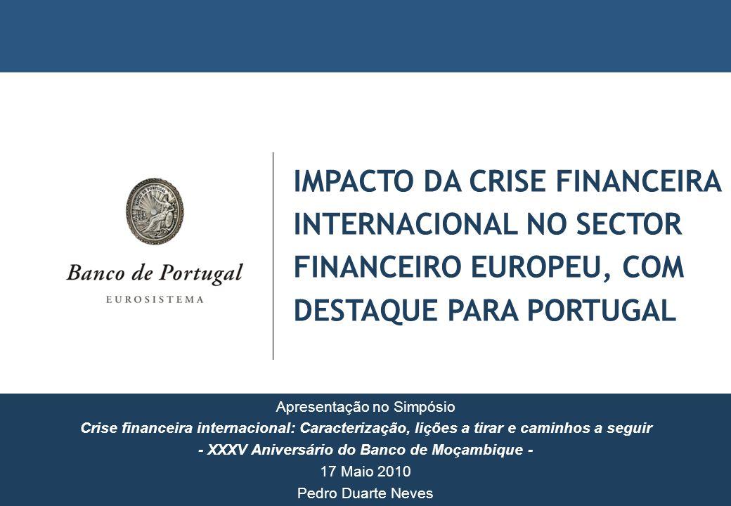 IMPACTO DA CRISE FINANCEIRA INTERNACIONAL NO SECTOR FINANCEIRO EUROPEU, COM DESTAQUE PARA PORTUGAL Apresentação no Simpósio Crise financeira internaci