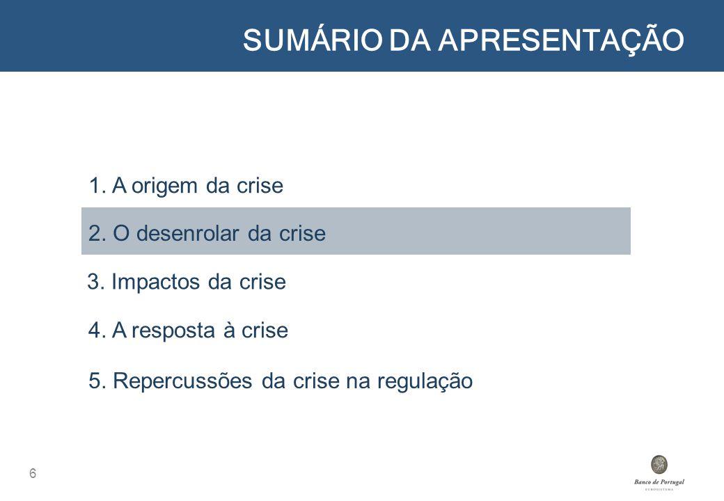 5.REPERCUSSÕES DA CRISE NA REGULAÇÃO 37 1.