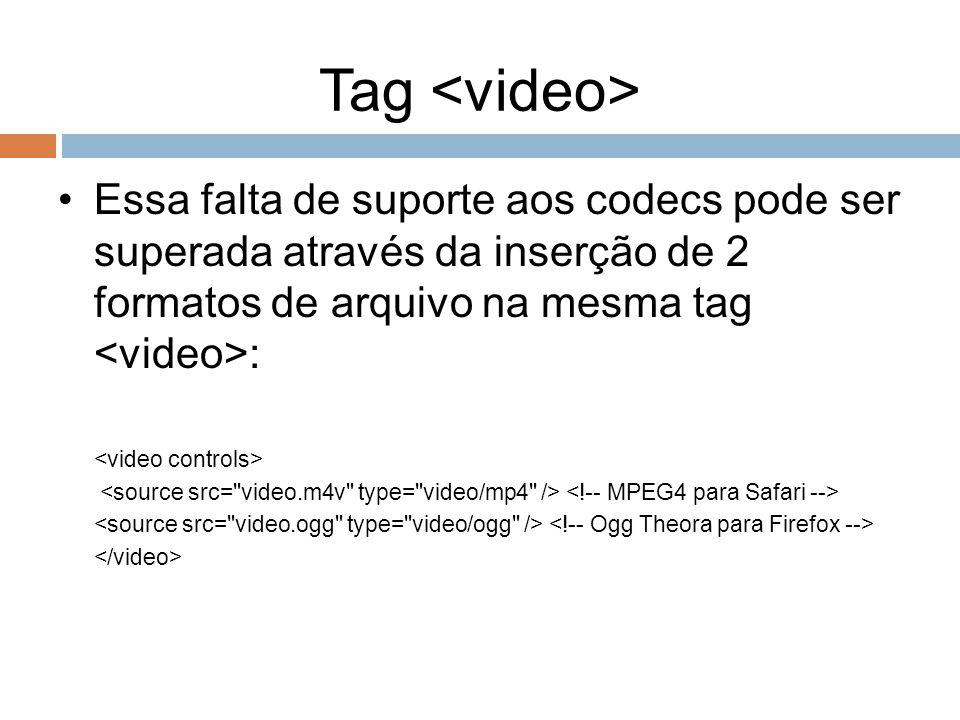 Tag Essa falta de suporte aos codecs pode ser superada através da inserção de 2 formatos de arquivo na mesma tag :