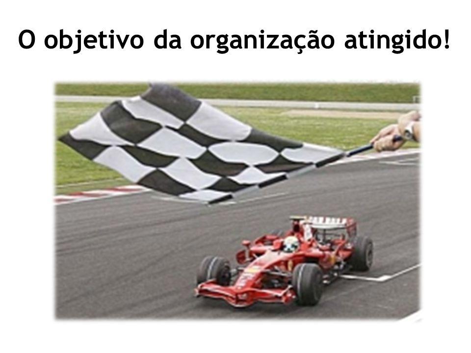 O objetivo da organização atingido!