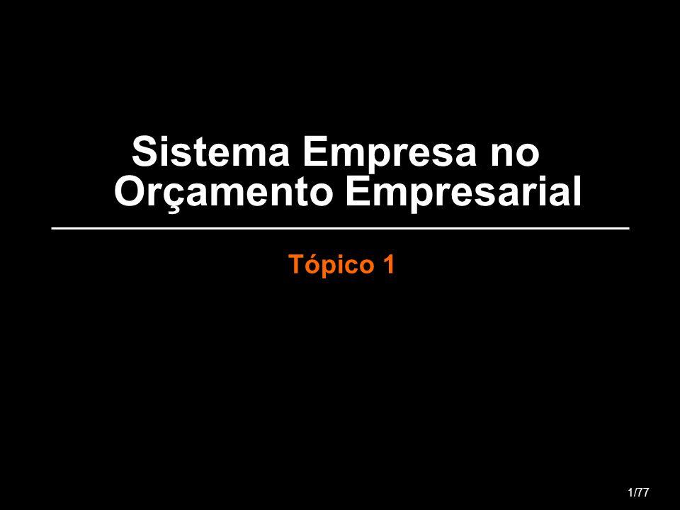 Sistema Empresa no Orçamento Empresarial Tópico 1 1/77