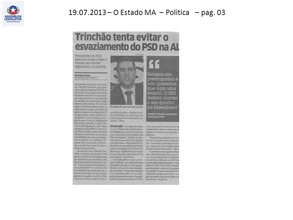 19.07.2013 – O Imparcial – Politica – pag. 03