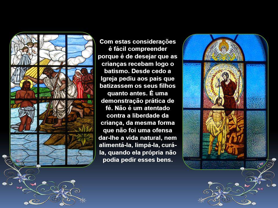 É importante lembrar o caráter sacramental do Batismo um certo sinal espiritual e indelével impresso na alma no momento (Dz, 852). É como um selo que