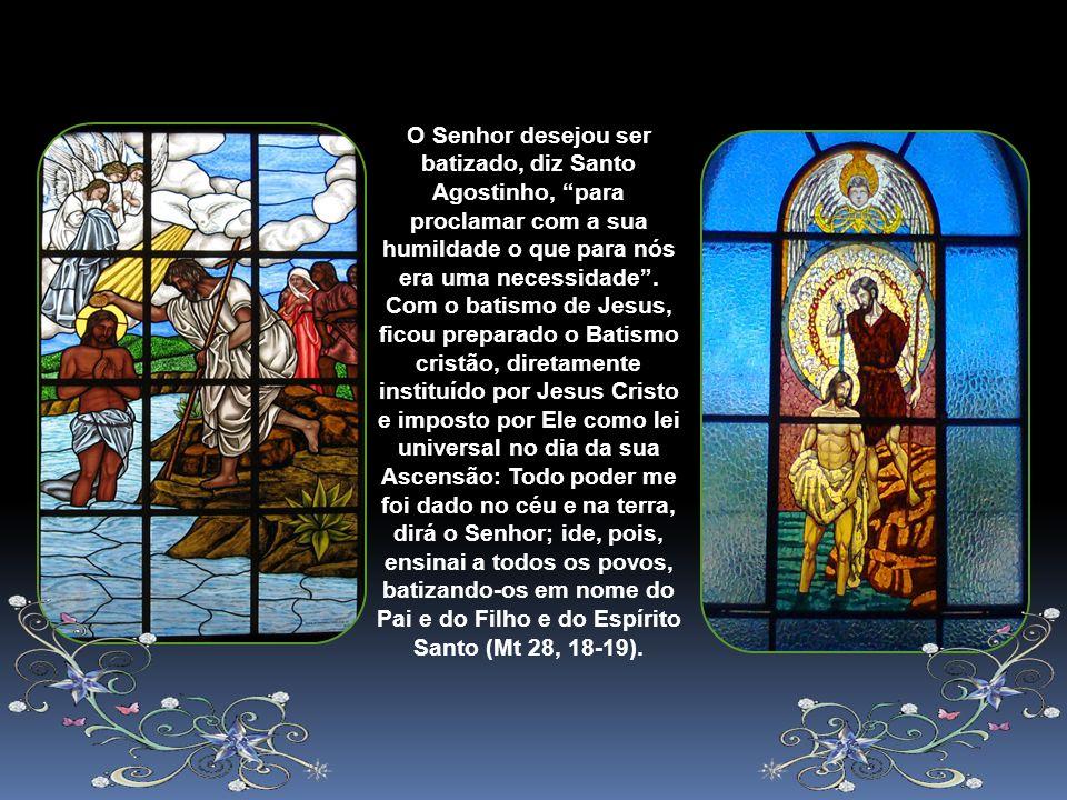 A Festa do Batismo do Senhor, celebrada no Domingo depois da Epifania encerra o ciclo das Festas da Manifestação do Senhor, o ciclo de Natal. Comemora