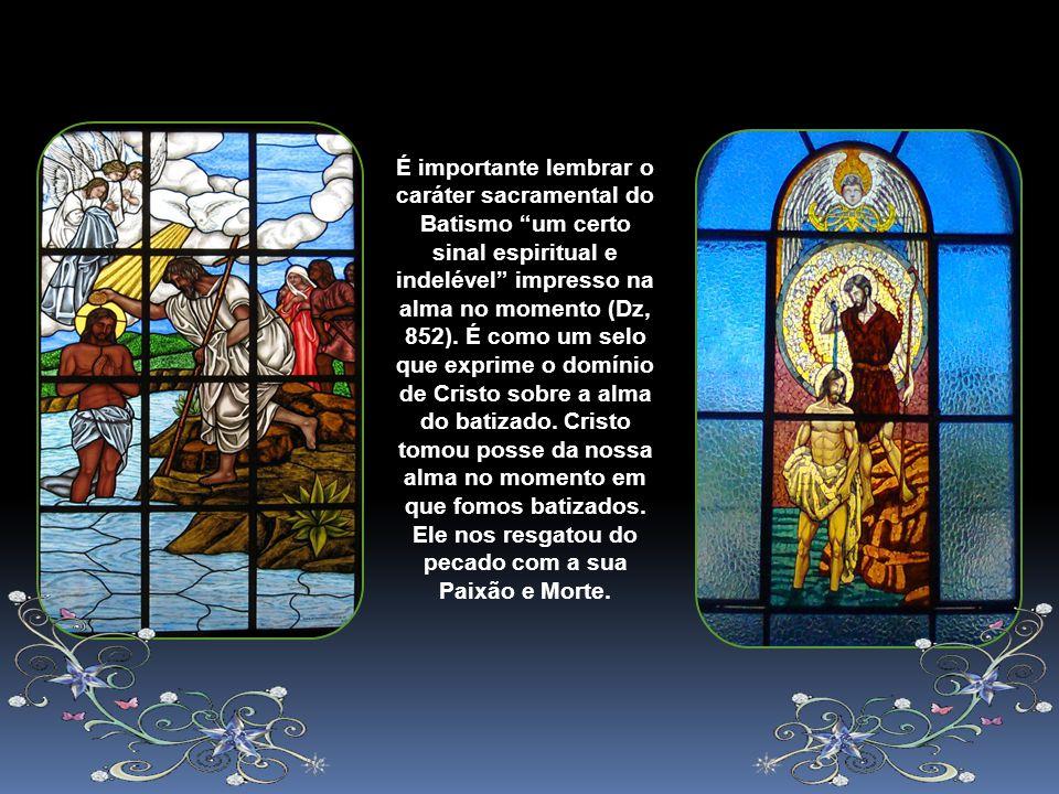 E na Igreja, precisamente pelo Batismo, somos todos chamados à santidade (LG 11 e 42), cada um no seu próprio estado e condição. A chamada à santidade