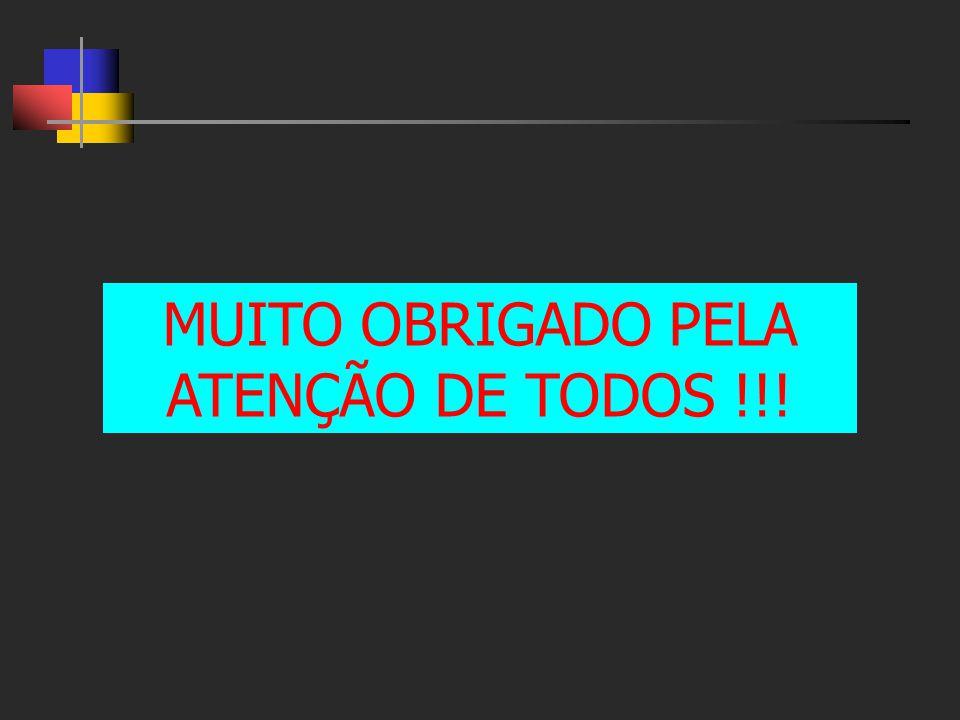 MUITO OBRIGADO PELA ATENÇÃO DE TODOS !!!