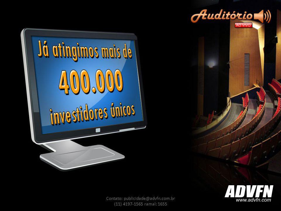 Contato: publicidade@advfn.com.br (11) 4197-1565 ramal: 1655