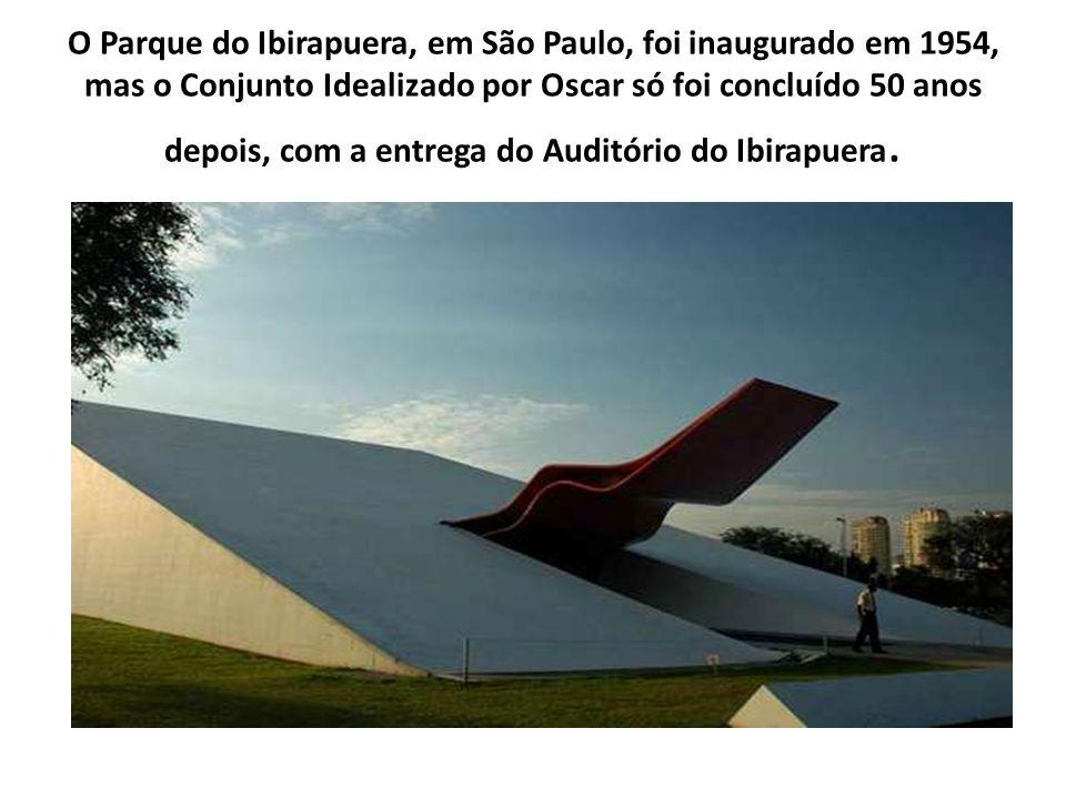 O Parque do Ibirapuera, em São Paulo, foi inaugurado em 1954, mas o Conjunto Idealizado por Oscar só foi concluído 50 anos depois, com a entrega do Au