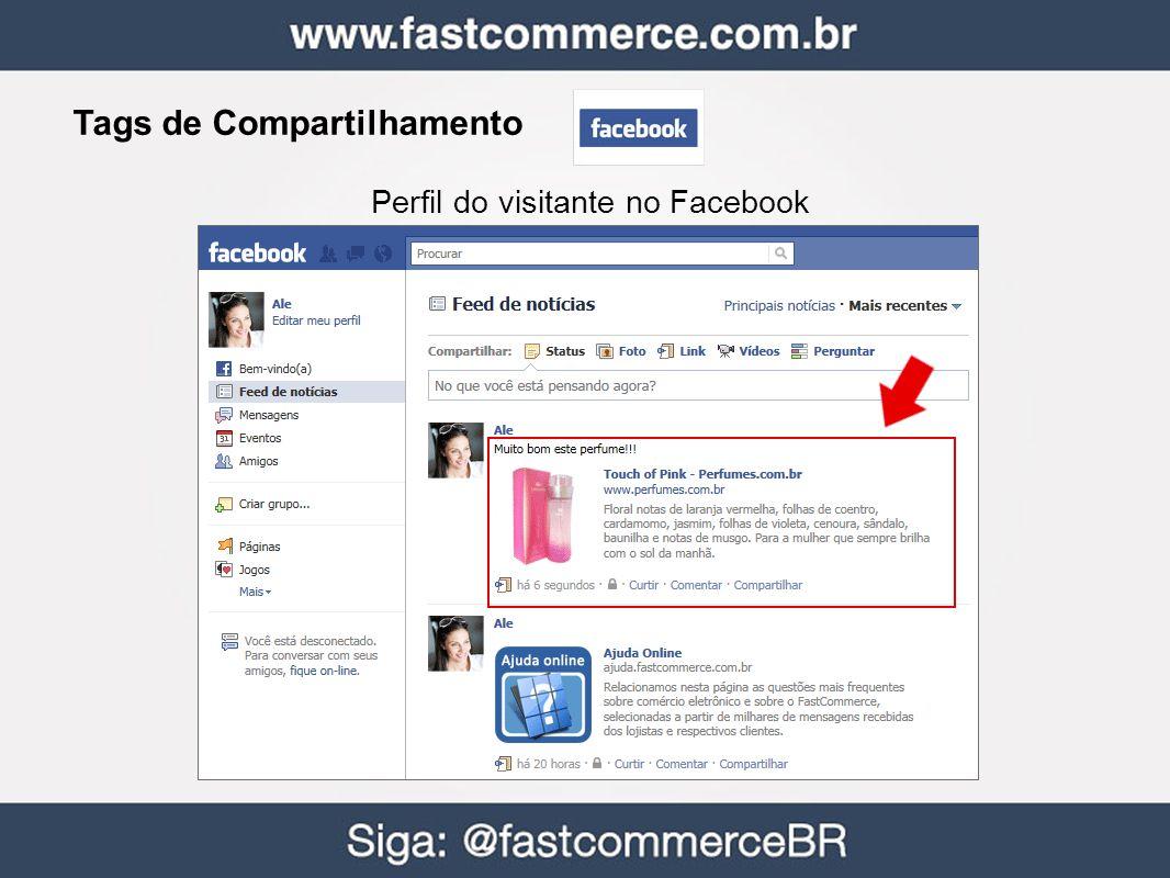 Tags de Compartilhamento Perfil do visitante no Facebook