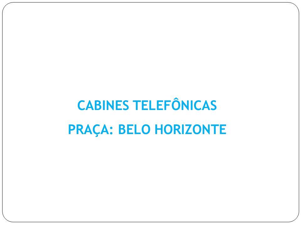 CABINES TELEFÔNICAS PRAÇA: BELO HORIZONTE