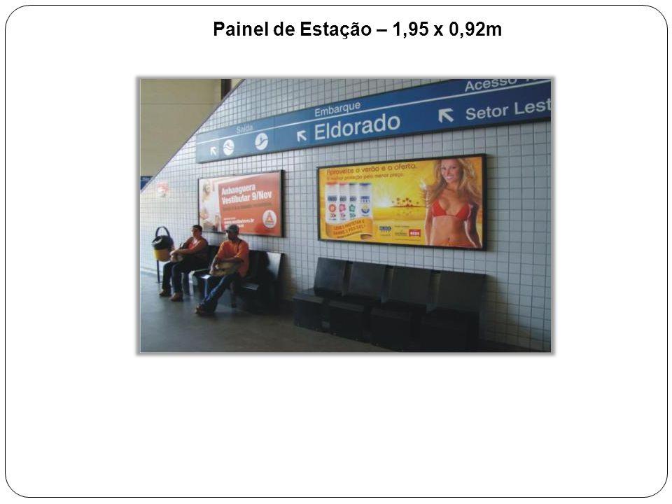 Painel de Estação – 1,95 x 0,92m