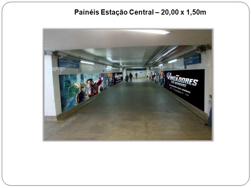 Painéis Estação Central – 20,00 x 1,50m