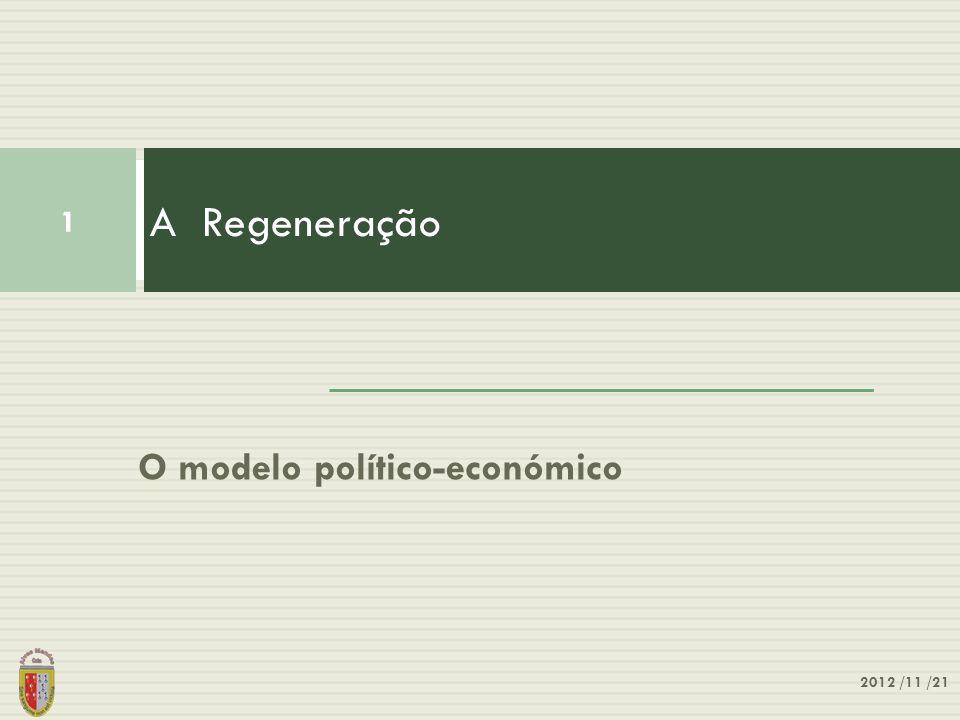 O modelo político-económico A Regeneração 1 2012 /11 /21