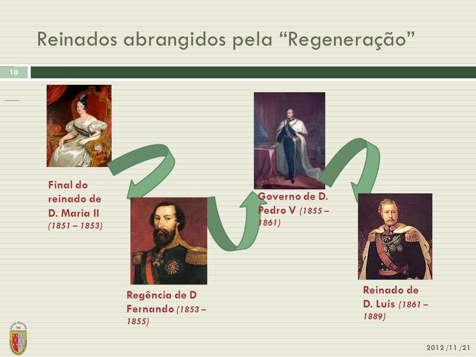Reinados abrangidos pela Regeneração 2012 /11 /21 10 Origem: Wikipédia, a enciclopédia livre. Ir para: navegação, pesquisanavegaçãopesquisa Ficheiro H