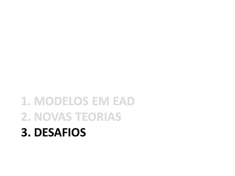 1. MODELOS EM EAD 2. NOVAS TEORIAS 3. DESAFIOS