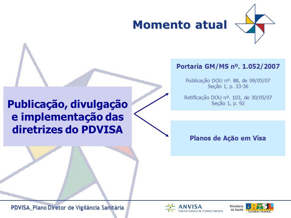 PDVISA_Plano Diretor de Vigilância Sanitária I.Organização e gestão do SNVS, no âmbito do SUS II.