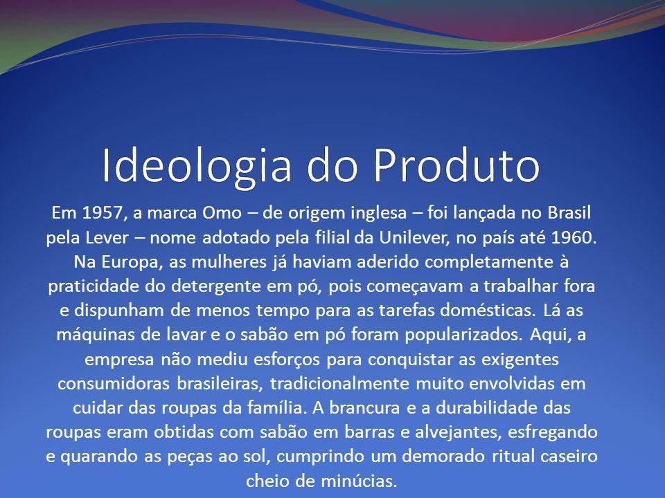 Em 1957, a marca Omo – de origem inglesa – foi lançada no Brasil pela Lever – nome adotado pela filial da Unilever, no país até 1960. Na Europa, as mu
