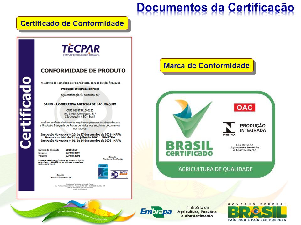 Certificado de Conformidade Marca de Conformidade