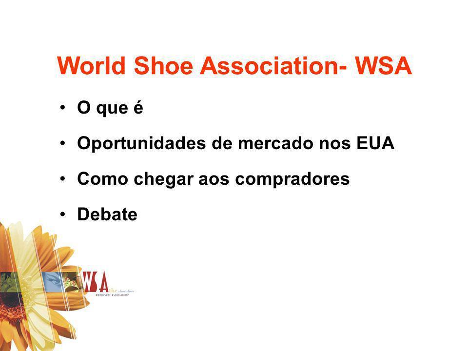 O que é Oportunidades de mercado nos EUA Como chegar aos compradores Debate World Shoe Association- WSA