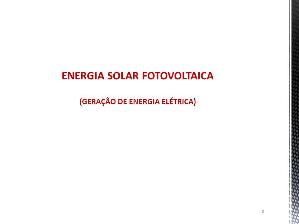 8 ENERGIA SOLAR FOTOVOLTAICA (GERAÇÃO DE ENERGIA ELÉTRICA)