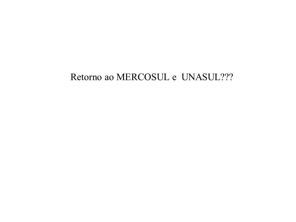 Retorno ao MERCOSUL e UNASUL???