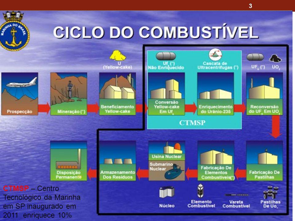 3 CTMSP – Centro Tecnológico da Marinha em SP inaugurado em 2011 enriquece 10%