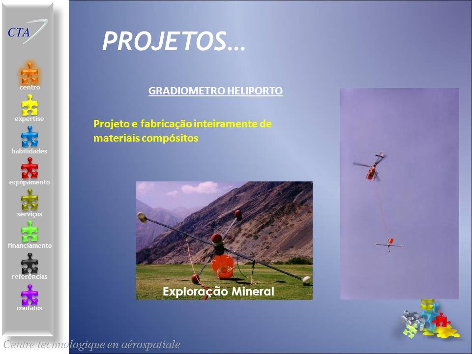 Centre technologique en aérospatiale le centre contacts services compétences équipements références expertise financement PROJETOS… SERVICES Projeto e