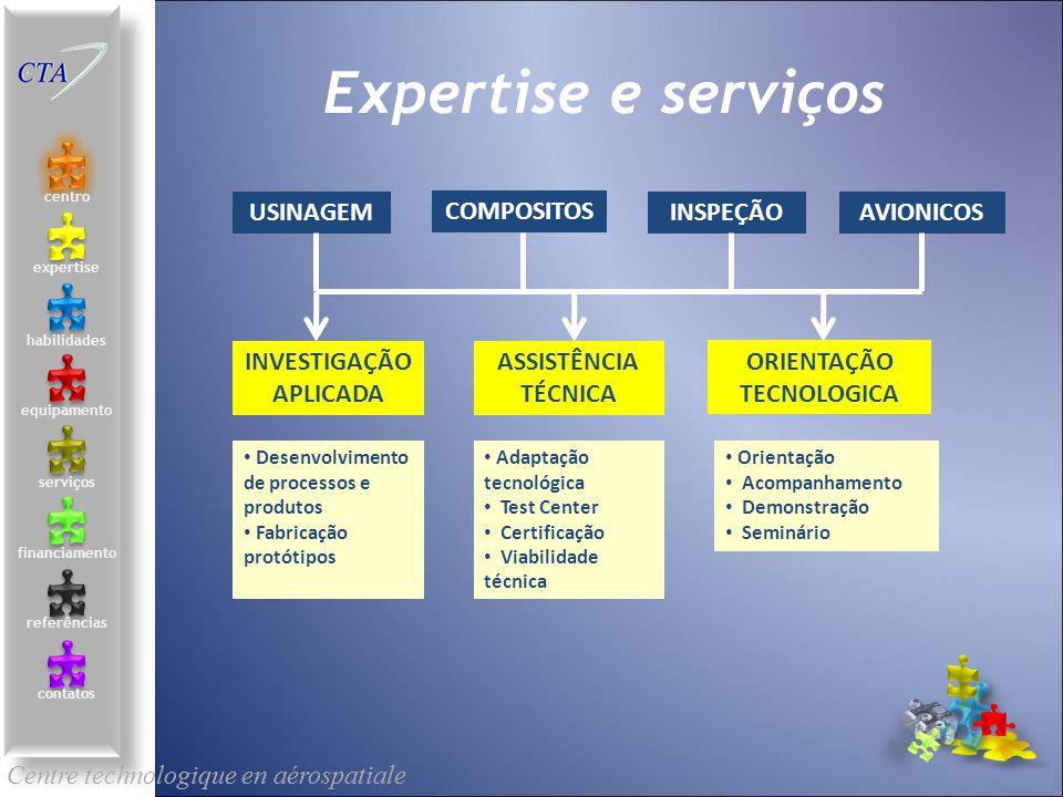 Centre technologique en aérospatiale le centre contacts services compétences équipements références expertise financement Expertise e serviços SERVICE