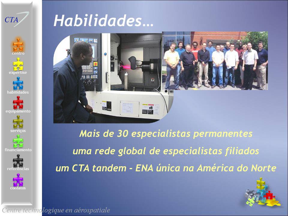 Mais de 30 especialistas permanentes uma rede global de especialistas filiados um CTA tandem - ENA única na América do Norte Centre technologique en a