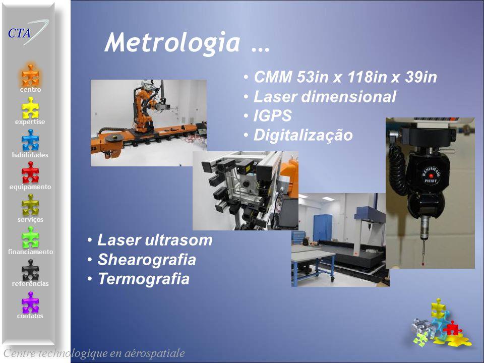 CMM 53in x 118in x 39in Laser dimensional IGPS Digitalização Centre technologique en aérospatiale le centre contacts services compétences équipements