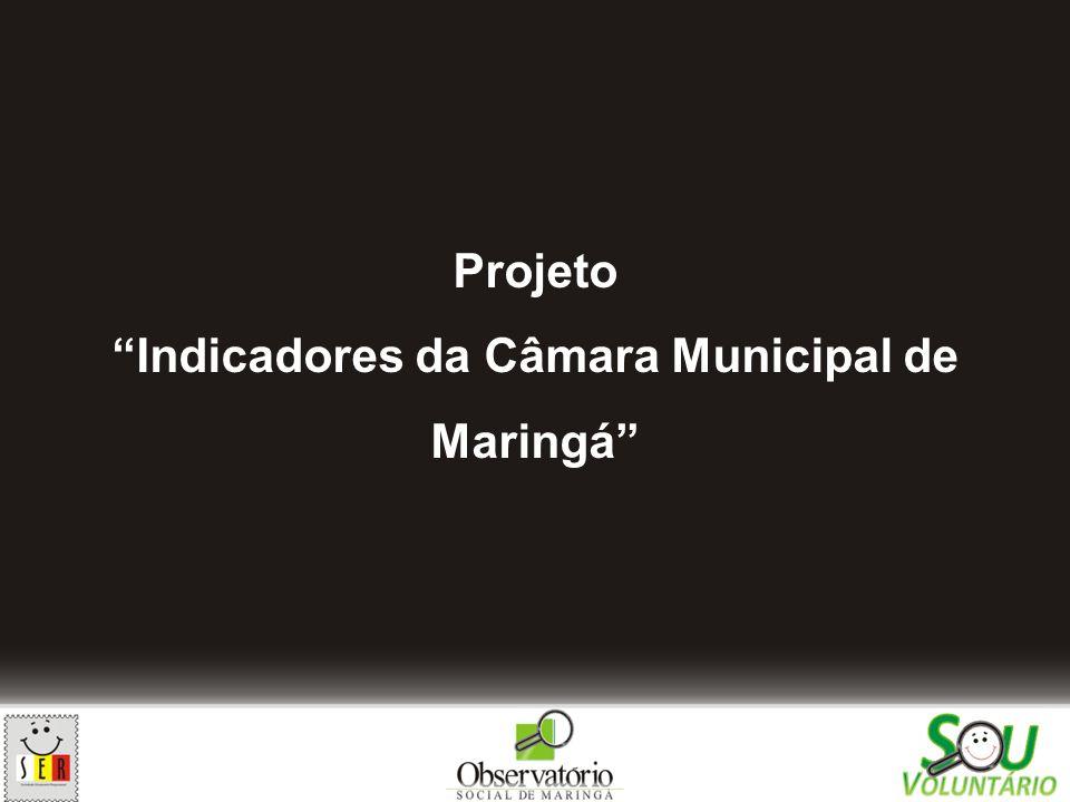 Projeto Indicadores da Câmara Municipal de Maringá