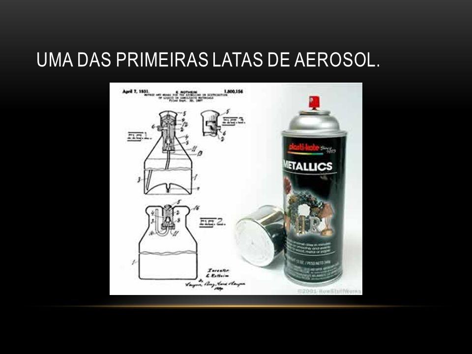UMA DAS PRIMEIRAS LATAS DE AEROSOL.