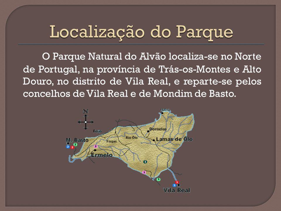 O Parque Natural do Alvão localiza-se no Norte de Portugal, na província de Trás-os-Montes e Alto Douro, no distrito de Vila Real, e reparte-se pelos concelhos de Vila Real e de Mondim de Basto.